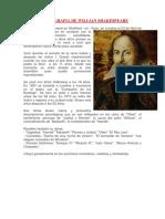 Biografia de Willian Shakespeare