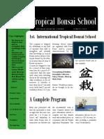 Tropical Bonsai School - Brochure