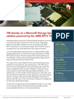 VM density on a Microsoft Storage Spaces Direct solution powered by the AMD EPYC 7601 processor