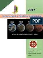 Tecnología y Gestión Ambiental