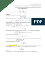 Corrección Examen Final de Cálculo III (Ecuaciones Diferenciales) 5 de diciembre de 2017