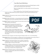 Sea Monsters of the Seven Seas Definitions1