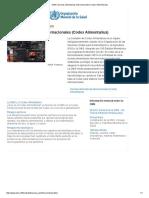 OMS _ Normas Alimentarias Internacionales (Codex Alimentarius)