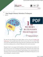 12 Best Simple Memory Retention Techniques