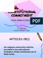 49.1. Constitutional Commitment Related to Education