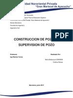 Construccion de Pozos y Supervision de Pozo