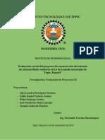 Evaluación Social Del Proyecto de Alcantarillado Sanitario. FEP