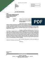 Oficio Devuelvo Exp. Santa Cruz de Andamarca - Convenio Instalacion Tuberia HDP