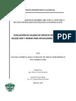 Evaluación de Calidad de Servicio en Redes de Acceso 802.11 y 802.16