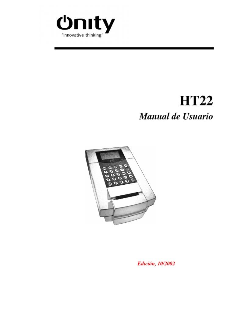 Manual HT22 Español