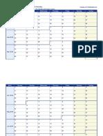 2018 Weekly Calendar Monday