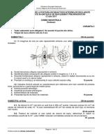 Subiecte Titularizare Chimie Industriala - Profesori 2017