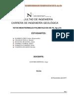 Vetas Mesotermales Polimetalicas de Pb Ag y Zn
