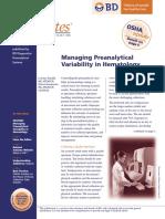 Managing Preanalytical Haemat