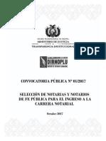 Convocatoria Publica 01 2017