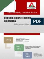 Hitos de La Participación Ciudadana1