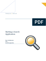 Starting a search application