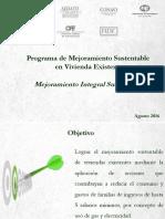Programa de Mejoramiento Sustentable en Vivienda Existente