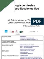 Clase 5 Tipología Túneles Hidráulicos Secciones Típicas Acuamed