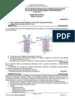 Subiecte Titularizare Chimie Industriala - Maistri 2017