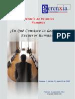 9. en Que Consiste La Gerencia de Recursos Humanos
