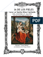 GUÍA DE LOS FIELES PARA LA SANTA MISA CANTADA. Kyrial Cum Iubilo; para la fiestas de la Virgen