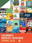 Spring 2018 UK Chronicle Books Children's Backlist Catalog
