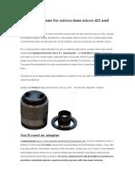 C_mount Lens for M4_3