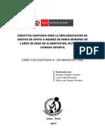 Directiva Sanitaria 235 - Grupos de Apoyo a Madres