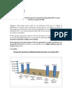 Barómetro Presupuestario 2017 Con Dos Reformas y Propuesta 2018 Último