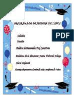 PROGRAMA DE DESPEDIDA DE 5 AÑOS