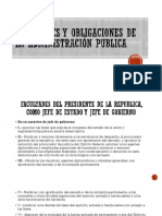 Facultades y Obligaciones de La Administración Publica
