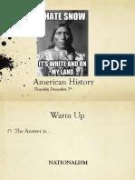thurs dec 7 american history