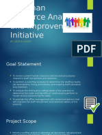 a human resource analysis and improvement initiative
