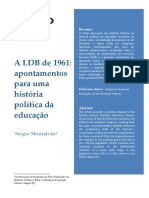 A LDB de 1961 - Apontamentos