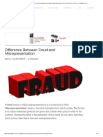 Difference Between Fraud and Misrepresentation (With Examples and Comparison Chart) - Key Differences