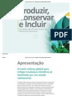 Produzir, Conservar e Incluir - Estratégia de MT Para Mitigar Mudanças Climáticas