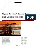Physical Restraint a Historical Review and Current Practice