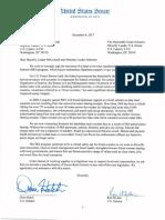 Secure Rural School Letter to Senate Leadership