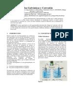 Informe de Fisicoquimica II 5 Celdas Galvanicas y Corrosion