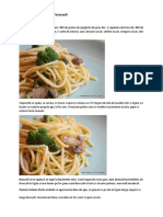 Spaghete Cu Ciuperci Si Broccoli