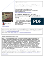 Actigraphic Assessment of Sleep Disturbances Following Traumatic Brain Injury