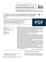 The Effects of Sleep on the Relationship Between Brain Injury Severity and Recovery of Cognitive Function- A Prospective Study