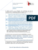 Modulo 1.1 Introduccion a Los Biomateriales