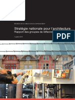 Strategie Nationale Pour l Architecture Rapport Groupes de Travail 07072015