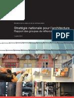 Strategie Nationale Pour l Architecture Rapport Groupes de Travail 07072015
