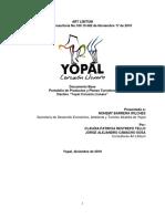 Yopal Documento Final Productos y Planes Tur Sticos