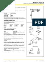 Brio Wardrobe Single 50 Technical Sheet