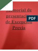Memorial Excepción Previa