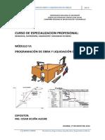 Mod Vi-programacion de Obra y Liquidacion de Obras